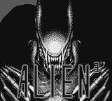 Alien³ Game Boy Title screen