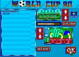 World Cup 90 Amiga Team select; you can also edit a custom team.