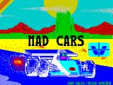 Mad Cars ZX Spectrum Splash screen: displayed very briefly as the game starts to load
