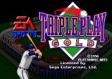 Triple Play: Gold Edition Genesis Title screen