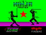 Ninja Master ZX Spectrum Splash screen; displayed very briefly when game starts to load