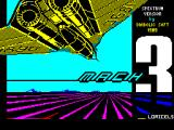Mach 3 ZX Spectrum Splash screen: displays very briefly as the game starts to load