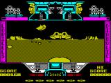 Mach 3 ZX Spectrum Alien ship ahead. The controls are basic, left/right/up/down and shoot