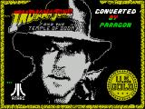 Indiana Jones and the Temple of Doom ZX Spectrum Splash screen displayed as game starts to load, there's an accompanying bit od Indy music too