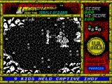 Indiana Jones and the Temple of Doom ZX Spectrum Two bad guys <i>and</i> a snake! No problem. The good thing is that when Indy's caught he restarts in the same place with no-one nearby