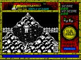 Indiana Jones and the Temple of Doom ZX Spectrum A bit further on and I can stand here zapping the bad guys as they climb the ladder