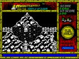 Indiana Jones and the Temple of Doom ZX Spectrum Only there's a guy in the bottom right who throws something at me and finishes me off