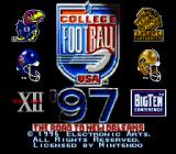 College Football USA 97 SNES Title Screen