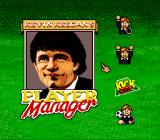Kevin Keegan's Player Manager SNES Main Menu with a cursor to make your selection