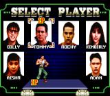 Mighty Morphin Power Rangers: The Movie SNES Select Player screen