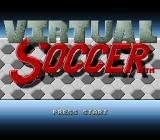 Virtual Soccer SNES Title screen