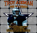 Troy Aikman NFL Football SNES Game Title