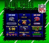 Troy Aikman NFL Football SNES Option Screen