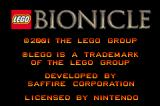 LEGO BIONICLE Game Boy Advance Title and copyright