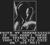 Battletoads Game Boy The Dark Queen is insulting us as always.
