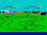 Ready Steady Go ZX Spectrum An unusually bendy track for the hurdles. The faster you mash those buttons the faster you go. There's a timer on the right and power indicators at the top