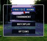 World Masters Golf SNES Main Menu
