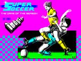 Super Soccer ZX Spectrum Splash screen - displays very very briefly at the start of the game load process