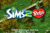 The Sims 2: Pets Game Boy Advance Title Screen