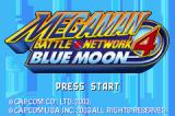 Mega Man Battle Network 4: Blue Moon Game Boy Advance Title screen