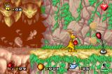 Kao the Kangaroo Game Boy Advance The punching balls mark the end of the level.