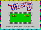 Terror-Daktil 4D ZX Spectrum The first game screen shows current high scores prior to starting. When all three lives have been lost the game returns to this point, hopefully with your score on top