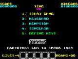 Rygar ZX Spectrum Main menu