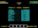 Rygar ZX Spectrum The high score table displays prior to the game. You are returned here when all lives have been lost