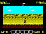 Rygar ZX Spectrum The first game screen. Enemies come at you from both sides