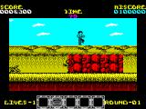 Rygar ZX Spectrum There are obstacles such as walls and caverns to jump over