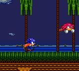 Sonic the Hedgehog: Triple Trouble Game Gear Sonic chasing Knuckles