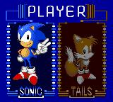 Sonic the Hedgehog: Triple Trouble Game Gear Choosing between Sonic and Tails