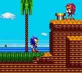Sonic the Hedgehog: Triple Trouble Game Gear Knuckles is up to no good