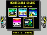 Monte Carlo Casino ZX Spectrum Later I get tired of roulette and quit. I'm taken back to the game selection screen (with a lot less money)
