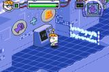 Dexter's Laboratory: Deesaster Strikes! Game Boy Advance Tutorial: Signs explain the controls.