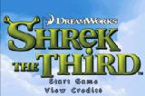 Shrek the Third Game Boy Advance Title screen