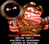 Worms Armageddon Game Boy Color Splash screen