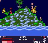 Worms: Armageddon Game Boy Color Worm armed with a bazooka!