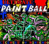 Ultimate Paintball Game Boy Color Title Screen