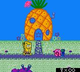 SpongeBob Squarepants: Legend of the Lost Spatula Game Boy Color Start of a new game