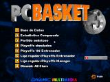 PC Basket 3.0 DOS Main menu.