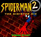 Spider-Man 2: The Sinister Six Game Boy Color Title Screen