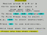 The Korth Trilogy 1: Escape from Arkaron ZX Spectrum Prisoner : Instructions