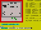 The Korth Trilogy 1: Escape from Arkaron ZX Spectrum raid : positions after the first orders have been carried out. Xenia to place the charge and withdraw