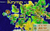 DragonStrike PC-98 Map of Krynn