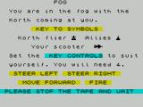 The Korth Trilogy 3: Into the Empire ZX Spectrum Fog : load screen