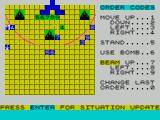 The Korth Trilogy 3: Into the Empire ZX Spectrum Oldren : here a beam unit has fired across the arc of the perimeter allowing unit 7 to get inside, note that the Korth guards have moved from their position.