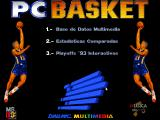 PC Basket DOS Main menu.