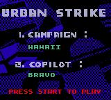 Urban Strike Game Gear Hawaii campaign