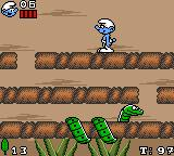 The Smurfs Game Gear The first boss: A snake